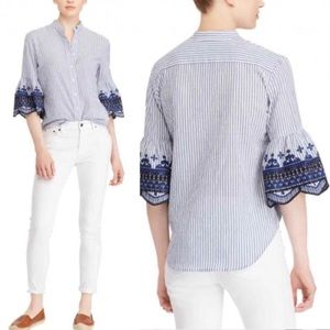 NWT Lauren Ralph Lauren Kespo Bell Sleeves Blouse